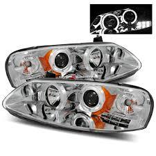2005 dodge stratus brake light bulb 01 06 dodge stratus 4 door halo led projector headlights chrome