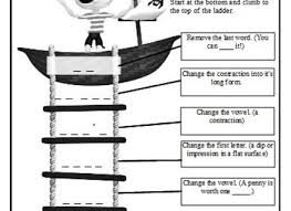 word ladders hands on printable word puzzles word ladders