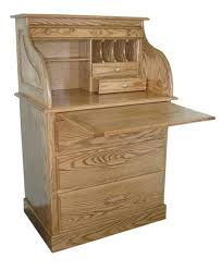 Small Writing Desk With Drawers by Amish Small Rolltop Secretary Writing Desk Hutch Office Furniture