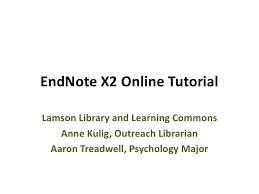 online tutorial library endnote online tutorial mar 09
