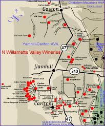 map of oregon wineries map to the wineries of oregon s willamette valley yamhill
