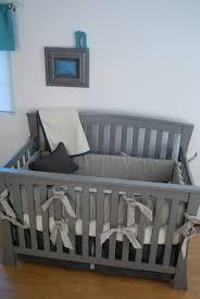 Aqua And Grey Crib Bedding Charcoal Grey Crib Bedding With White And Aqua Fabrics In The