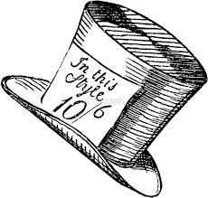 alice wonderland classic mad hatter hat