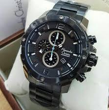 Jam Tangan Alexandre Christie Cowok jual jam tangan alexandre christie ac 6410 pria black original di