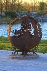 Custom Metal Fire Pits by Buy Handmade Up North Steel Fire Pit 37 Inches Made To Order
