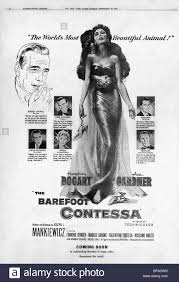 barefoot contessa ava gardner u0026 humphrey bogart the barefoot contessa 1954 stock