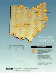 Bryan Ohio Map by Nuclear War Fallout Shelter Survival Info For Ohio With Fema