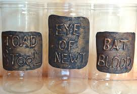 diy potion jars witches spooky halloween decor