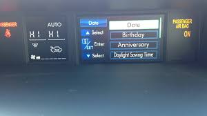 how to set your clock on your new 2014 subaru forester youtube
