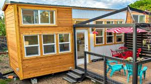 tiny house on wheels dual large lofted bedrooms full sized kitchen