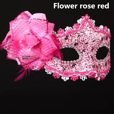 pink masquerade masks 3 color feather venice venetian masquerade mask mardi gras