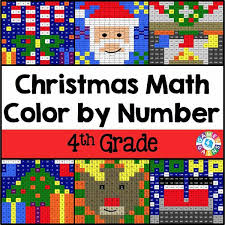 christmas math color number 4th grade u2013 games 4 gains