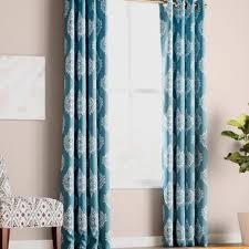 Teal Damask Curtains Damask Curtains Drapes You Ll Wayfair Ca