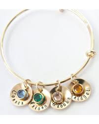 mothers birthstone bracelet don t miss this deal on gold personalized bangle bracelet