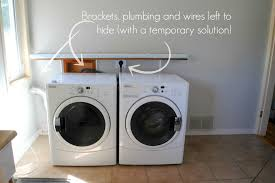Laundry Room Storage Between Washer And Dryer by Multifunctional Spaces Our Kitchen Laundry Nook