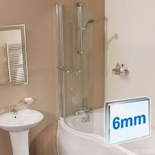 shower bath screen glass seal p shaped curved over bathroom shower bath screen glass seal p shaped curved over bathroom panel ebay