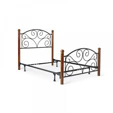 black metal full size bed frame