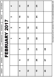 calendar template february 2017 great printable calendars