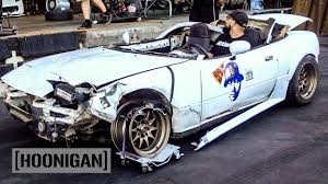 hoonigan stickers on cars hoonigan dt 125 the 200 miata gets one final chance at life