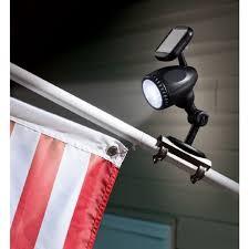 solar led flagpole light solar powered flag pole spot light automatic led flagpole mount no