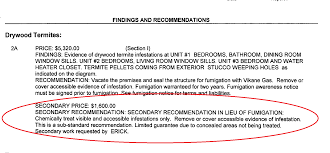house inspection report sample termite inspection james campbell termite inspection secondary recommendation example secondary recommendation highlighted