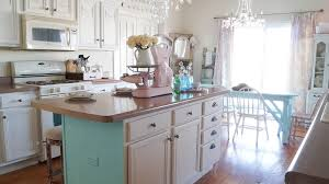 shabby chic kitchen island how to choose warm or cool paint white lace cottage
