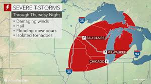 Radar Map Of Michigan by Damaging Storms To Strike Michigan To Iowa Into Thursday Night