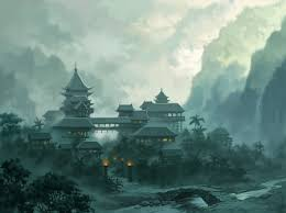 cloudy world wallpapers asian fantasy town fantasy u0026 abstract background wallpapers on