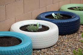 Paint For Outdoor Plastic Furniture by Painted Tire Container Garden Good Idea For Used Tires Then Just