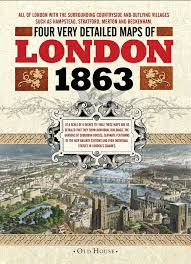 street maps of victorian london 1863 old house projects amazon
