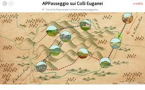 Walking Map App Walking In The Euganean Hills App Memola Project Mediterranean
