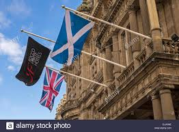 the scottish saltire union jack and the flag of rocco forte