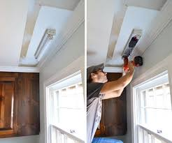 how to change a fluorescent light fixture how to replace fluorescent lighting with a pendant fixture