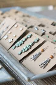 make your own earrings studs earring display cards modish