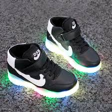 led lights shoes nike a couple of luminous shoes usb rechargeable light colorful led