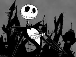 halloween town background skellington wallpapers