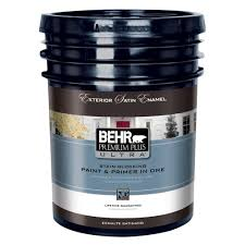 Home Depot 5 Gallon Interior Paint by Behr Premium Plus Ultra 5 Gal Ultra Pure White Satin Enamel
