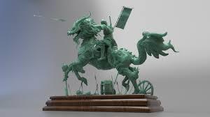 qilin statue artstation qilin statue arnald andujar