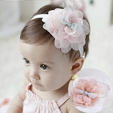 hair accessories for 1pc new high quality kids headband big flowers lace newborn