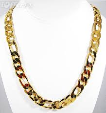 necklace figaro images 30 39 39 inch 12mm 14k gold finish figaro chain necklace for sale jpg