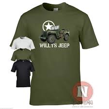 wwii jeep willys willys jeep t shirt military nostalgia ww2 d day historical