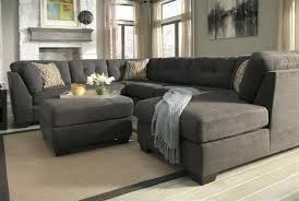 Gray Microfiber Sectional Sofa Oversized Sectional Delta City Steel Gray Microfiber Plush