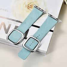apple watch light blue xoomz for apple watch series 2 series 1 38mm high quality lambskin
