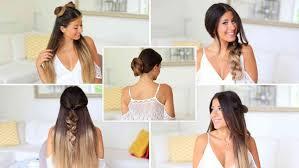 heatless hairstyles 5 easy one minute heatless hairstyles luxy hair