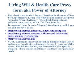 new york advance directives living will u0026 health care proxy form aka u2026