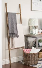 diy livingroom decor diy blanket ladder in modern wood blanket ladder for minimalist