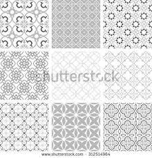 seamless backgrounds collection set arabesque vector stock vector