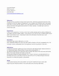truck driver resume template sle truck driver resume best of awesome truck driver resume