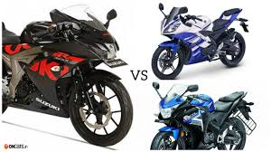 new cbr bike price suzuki gsx r150 vs yamaha yzf r15 v2 0 vs honda cbr 150r