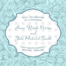 Wedding Invitation Cards Download Free Wedding Invitation Card With Blue Seamless Floral Pattern Vector